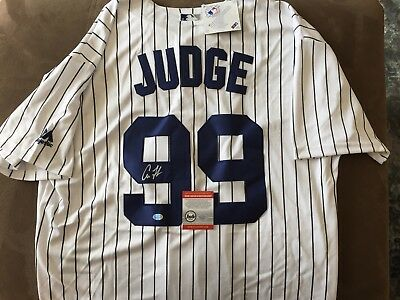 Aaron Judge Signed Majestic Jersey, Yankees