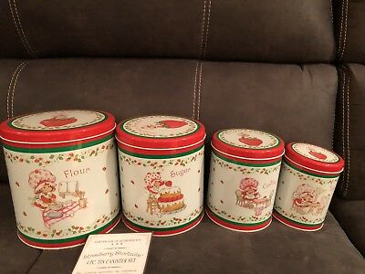 Strawberry Shortcake Vintage canisters rare numbered