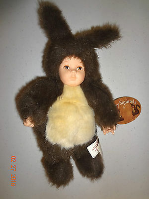 Anne Geddes Baby Squirrels Doll bean filled collection with tags