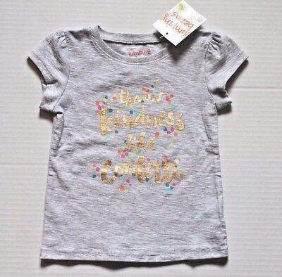 """Jumping Beans """"Throw Kindness Like Confetti"""" Tee Shirt Top Toddler Girl Size 2T"""