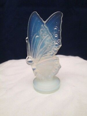 SABINO Opalescent Art Glass Butterfly Closed Wing Figurine Signed France MINTY