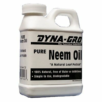 Pure Neem Oil Natural Leaf Polish Water Additives Triple-Action  Fungicide 8 oz