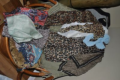 10 assorted womans scarves