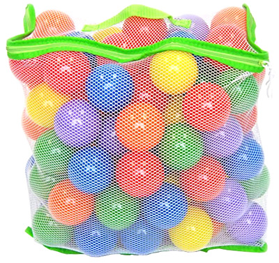 Balls w/ Mesh Tote 100 pieces Wonder Playball Non Toxic Crush Proof Quality