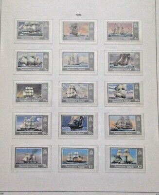 Ascension Island Lot of 9 approval Pages Side fold pages to fit envelope