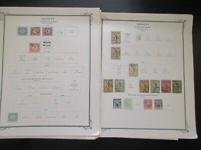 Uruguay Postage Stamps on 35 album Pages, unchecked New Used