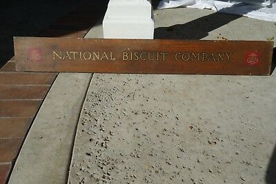 Vintage 1940s National Biscuit Company Wooden Advertising Piece