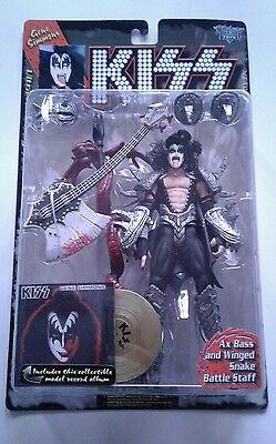 Kiss McFarlane action figures 1997 rare gold albums records Gene Paul Ace Peter