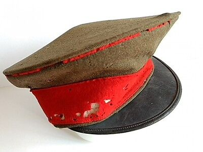 WWII Japanese Military Imperial Soldier's Hat Cap Battle Army Uniform -G-