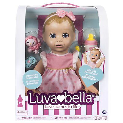 NEW! LUVABELLA LUVABEAU Baby Doll - BLONDE GIRL - Interactive - RARE - HOT TOY