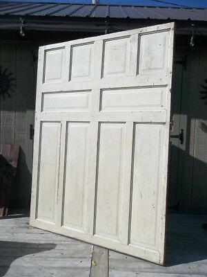Antique Victorian Wood Door Circa 1900's LARGE 10 Panel POCKET DOOR Salvaged