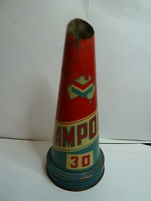 Ampol  30  Oil Bottle Tin Top   All Good