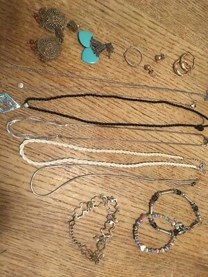 "Lot Vintage -Silver 925/ Sterling Jewelry-""""-Scrap Or Not"""" 68 Grams"