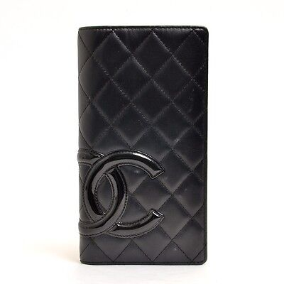 Authentic CHANEL lambskin Cambon Line Notebook Cabar