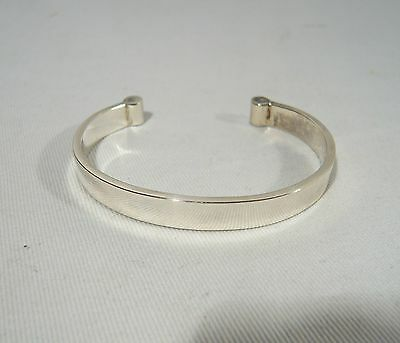 "Vintage Sterling Silver Mexico Cuff Bracelet  Signed 3 ""C's"" makers mark"