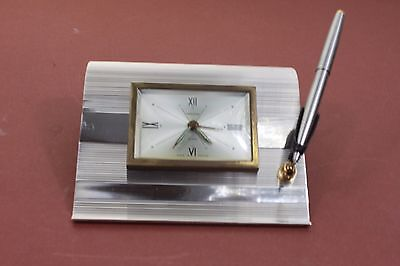 MARLOWE, vintage alarm clock with pan holder made in France (ref A121)