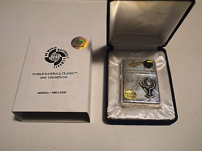 Limited Edition World Baseball Classic 2009 Champions Commemorative Zippo W/Case