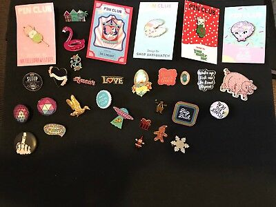 Collection Of Pins / Flair Enamel And Other.