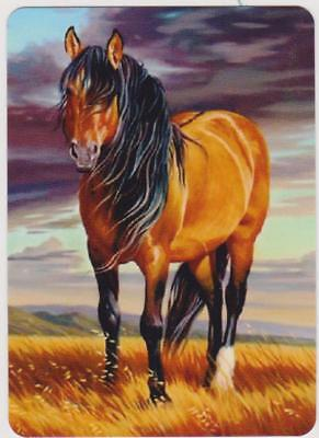 Swap/Playing Card ~ BEAUTIFUL HORSE IN COUNTRY SCENE ~ Modern Wide x 1