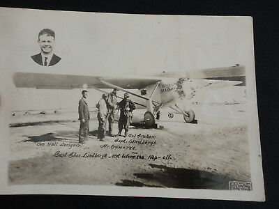 Original 1920's Spirit of St. Louis Lindbergh Graham Edwards Long Beach CA Photo