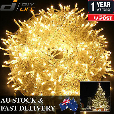 50M 250LED Warm Cool White Fairy Christmas String Strip Lights Party Outdoor