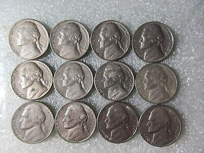 Usa  Five Cent Coins  Various Dates  1960 - 1988   12  Coins