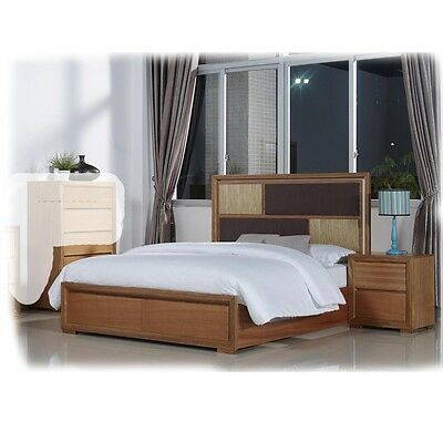 Alice 3 Piece QUEEN Hardwood Suite With LED Lights & Storage Drawers -BRAND NEW