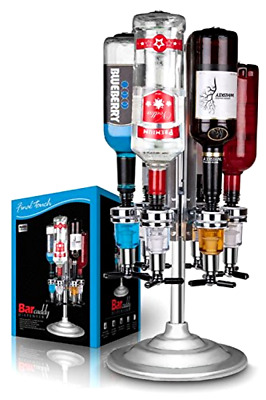 Caddy Liquor Dispenser Final Touch Holds 6 Bottle Bars up to 1 liter Each Tool