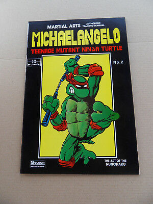 Teenage Mutant Ninja Turtle /Authorized Training Manual 2 .Solson 1986 . HTF