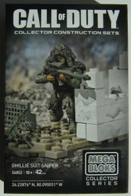 CALL OF DUTY Collector Construction Set - GHILLIE SUIT SNIPER  -  BNIB