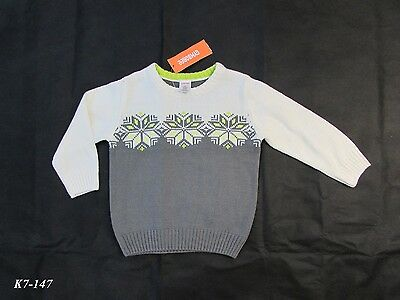 Gymboree New With Tags Toddler Boy Snowflake Sweater Size 2T MSRP 32.95