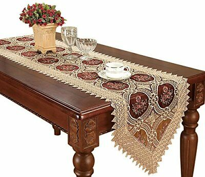 Simhomsen Vintage Gold Lace Table Runners And Scarves 16 By 132 Inch Long