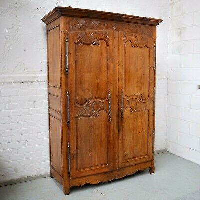 Period French Armoire / Wardrobe Provincial Antique Louis Style Chestnut