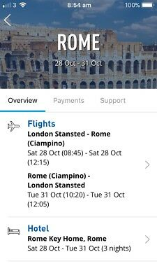 2 Plane Tickets To Rome And Posh Hotel for £300 3 nights stay , savings of £150