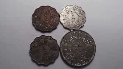 Middle East (?), 4 x similar design, different size & shape, Coins.