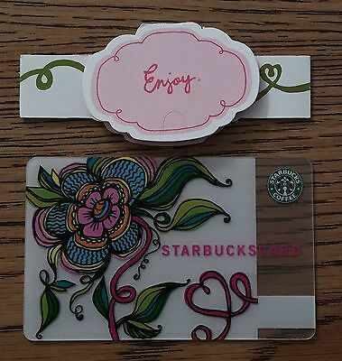 Starbucks 2006 Passion Flower Card With Matching Sleeve