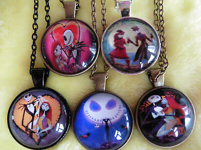 5 x NIGHTMARE BEFORE CHRISTMAS Pendant On Necklace Set ~ Mixed Joblot Bundle  R