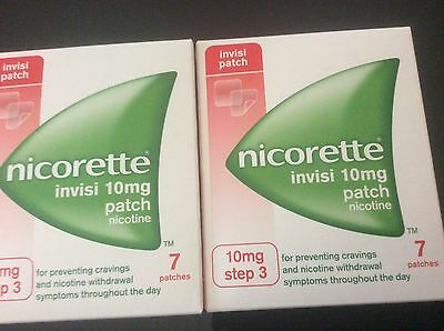 2 packets of nicorette invisi 10mg patches 14 in total