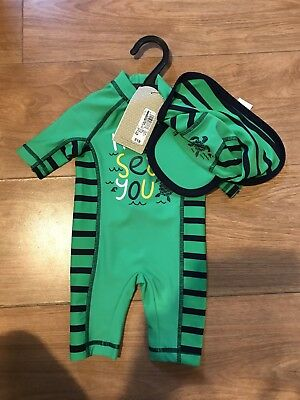 Baby Boy Swimsuit All In One 0-3 Months BNWT