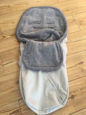 Uppababy Baby Ganoosh Footmuff Cosytoes Grey / Silver Good Clean Condition