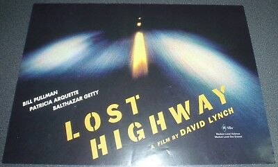 Promotional Movie Flyer : A4 : LOST HIGHWAY : David Lynch