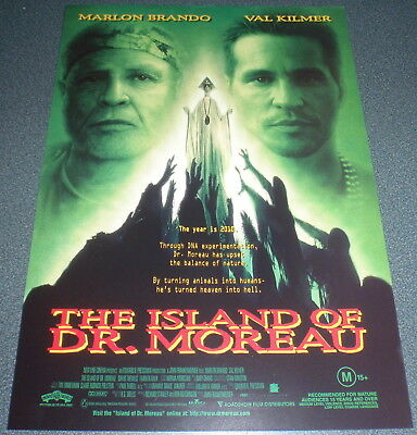 Promotional Movie Flyer : A4 : ISLAND OF DR. MOREAU, The (1996)