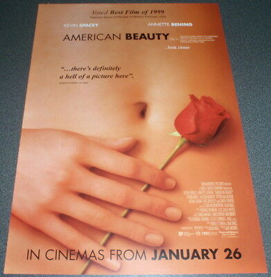 Promotional Movie Flyer : A4 : AMERICAN BEAUTY : Kevin Spacey