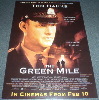 Promotional Movie Flyer : A4 : GREEN MILE, The : Tom Hanks