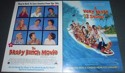 Promotional Movie Flyer : A4 : BRADY BUNCH MOVIE, The + A VERY BRADY SEQUEL