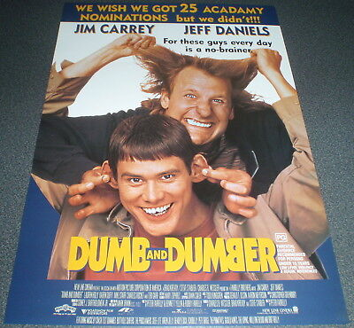 Promotional Movie Flyer : A4 : DUMB AND DUMBER : Jim Carrey