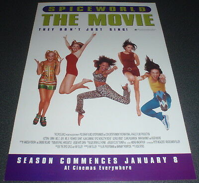 Promotional Movie Flyer : A4 : SPICEWORLD - THE MOVIE : SPICE GIRLS