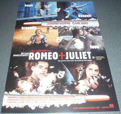 Promotional Movie Flyer : A4 : ROMERO & JULIET : Leonardo DiCaprio Baz Luhrmann