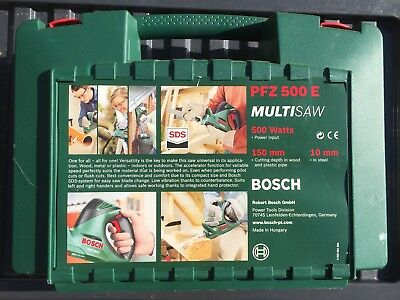 Bosch PFZ500 E 240Volt MultiSaw Saw with Blades Manual & Carry Case.