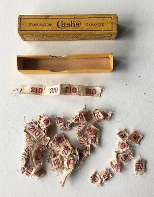 Vintage French Haberdashery Cashs Cloth Clothing Label Number 210 Labels